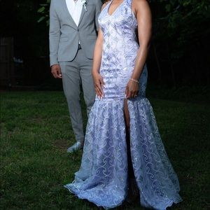 Lavender Iridescent prom dress